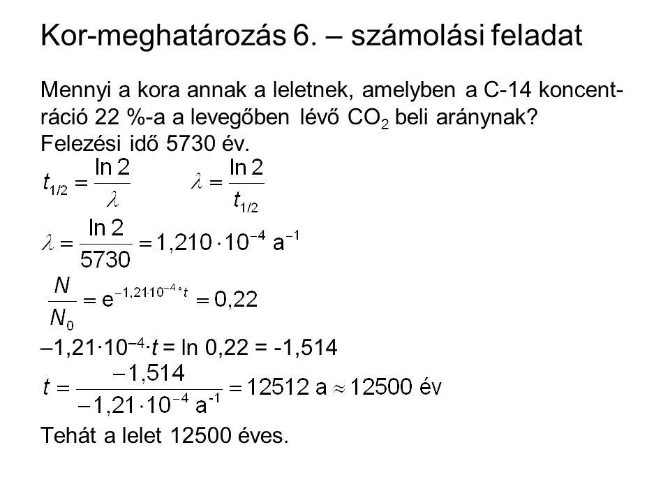 Kor-meghatározás 6. – számolási feladat