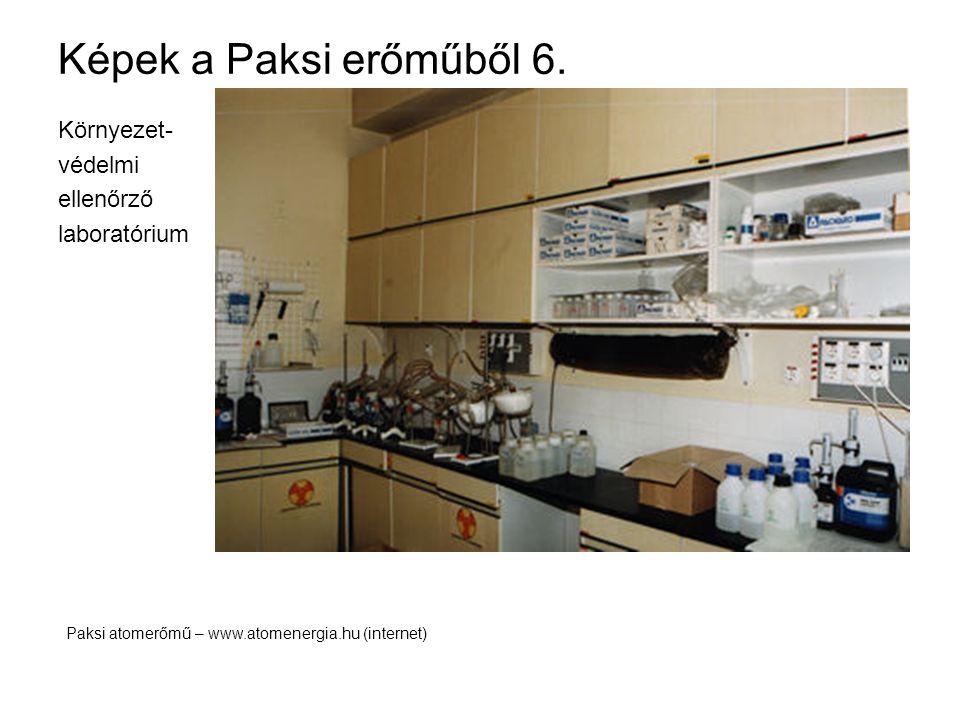 Képek a Paksi erőműből 6. Környezet- védelmi ellenőrző laboratórium