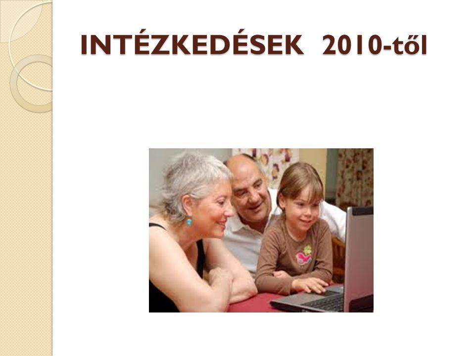 INTÉZKEDÉSEK 2010-től