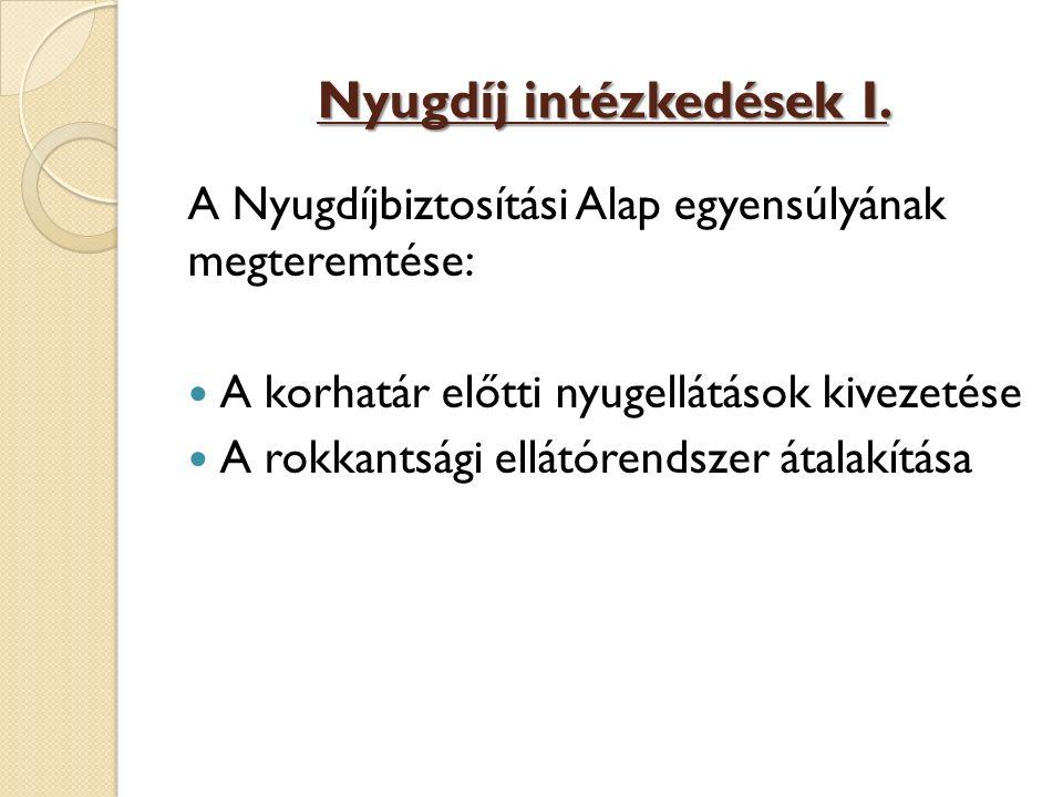 Nyugdíj intézkedések I.