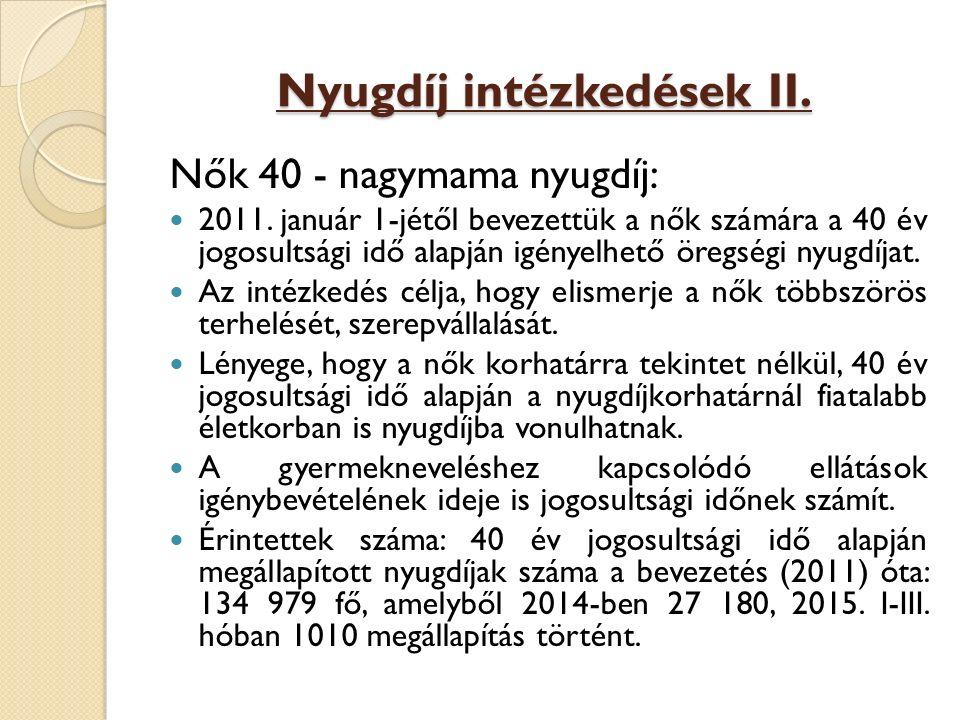 Nyugdíj intézkedések II.