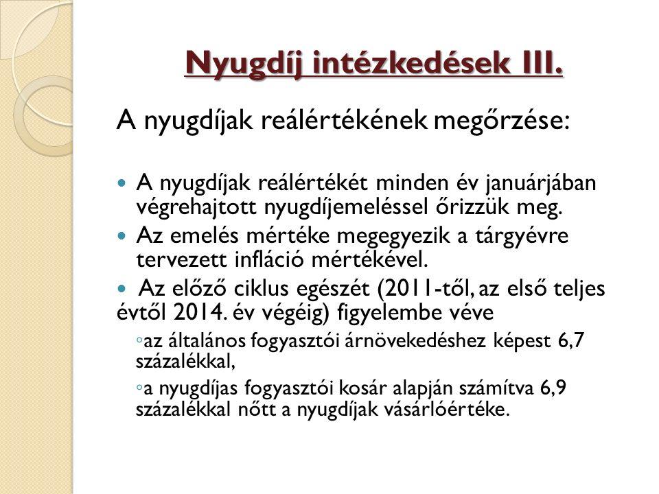Nyugdíj intézkedések III.