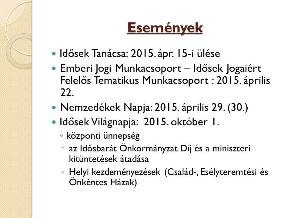 Események Idősek Tanácsa: 2015. ápr. 15-i ülése