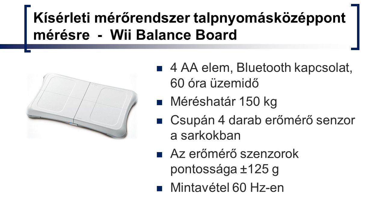 Kísérleti mérőrendszer talpnyomásközéppont mérésre - Wii Balance Board