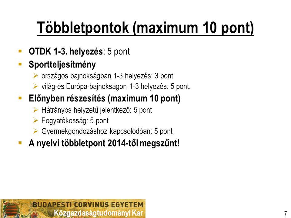 Többletpontok (maximum 10 pont)