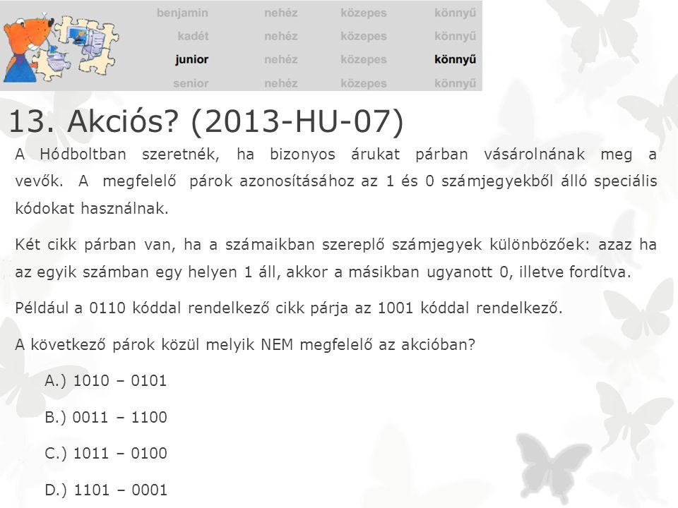 13. Akciós (2013-HU-07)
