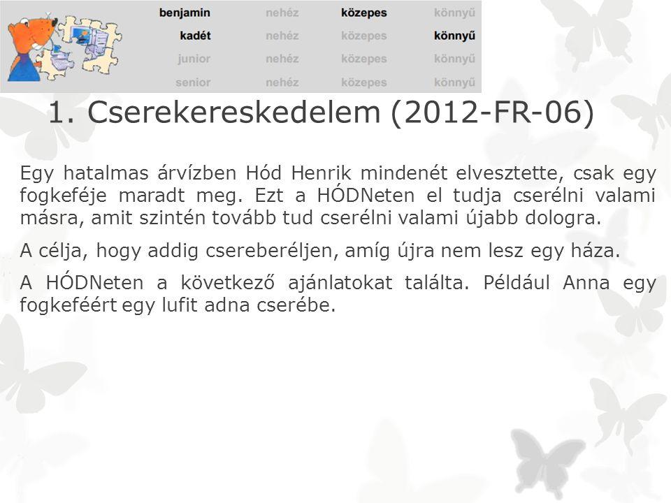 1. Cserekereskedelem (2012-FR-06)