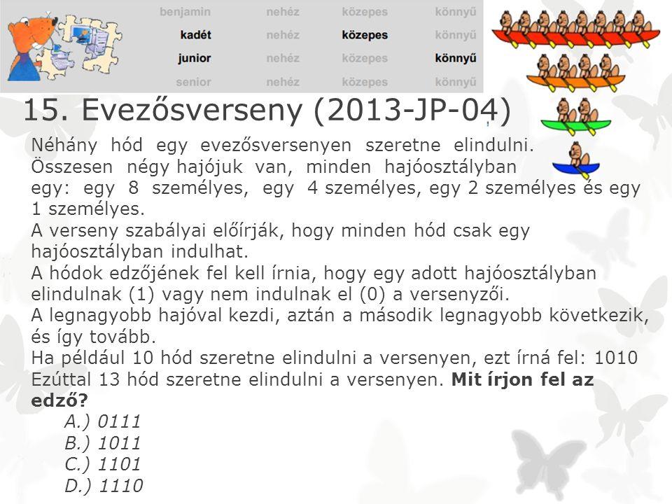 15. Evezősverseny (2013-JP-04)