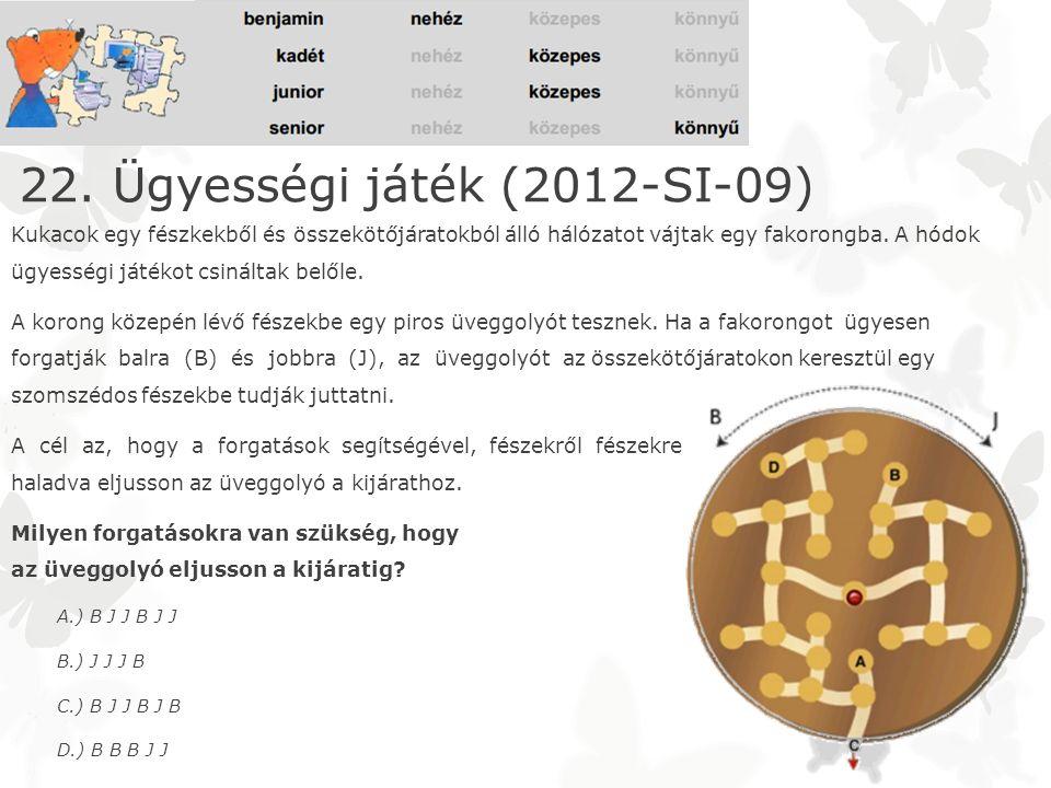 22. Ügyességi játék (2012-SI-09)
