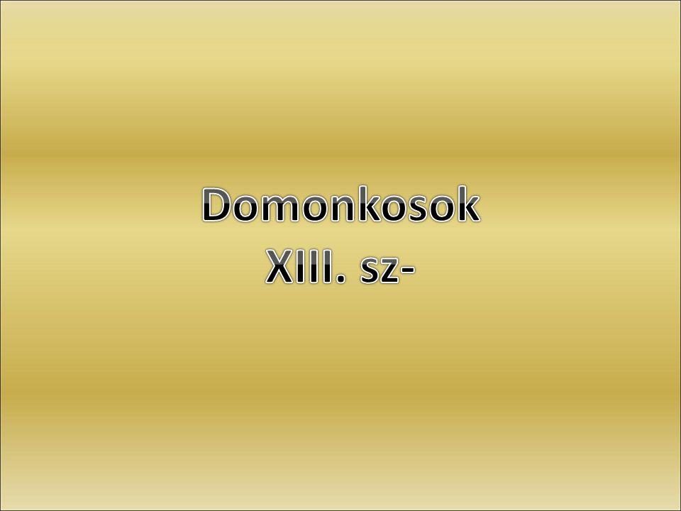 Domonkosok XIII. sz-