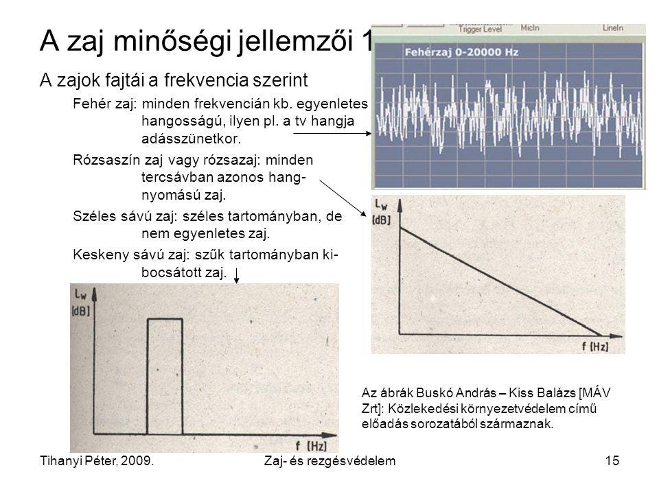 A zaj minőségi jellemzői 1.