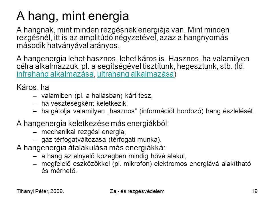 A hang, mint energia