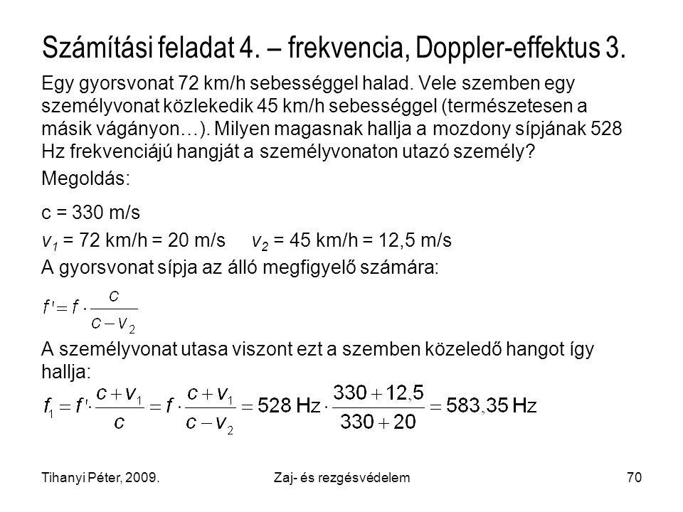 Számítási feladat 4. – frekvencia, Doppler-effektus 3.