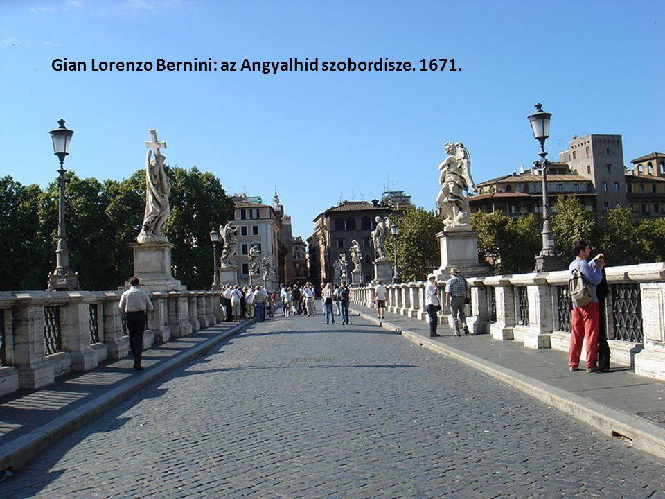 Gian Lorenzo Bernini: az Angyalhíd szobordísze. 1671.