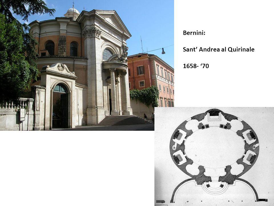 Bernini: Sant' Andrea al Quirinale 1658- '70