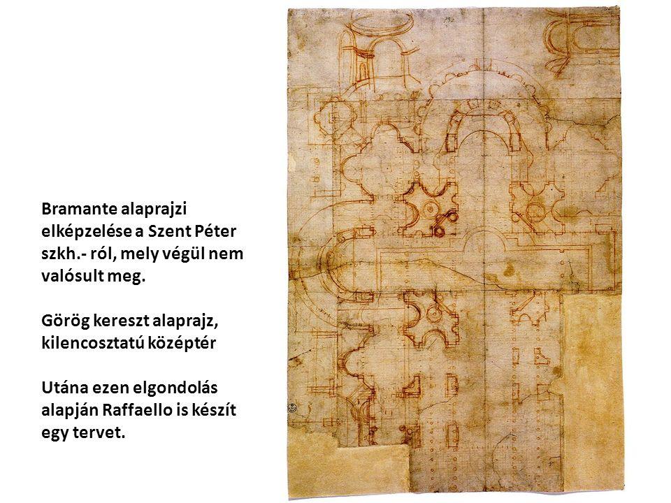 Bramante alaprajzi elképzelése a Szent Péter szkh