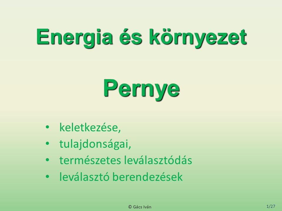 Energia és környezet Pernye