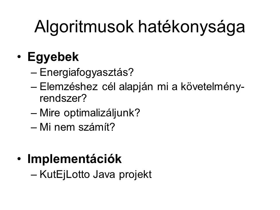 Algoritmusok hatékonysága