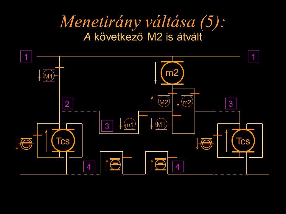 Menetirány váltása (5): A következő M2 is átvált
