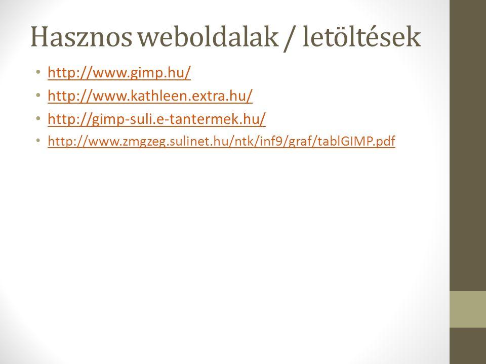 Hasznos weboldalak / letöltések