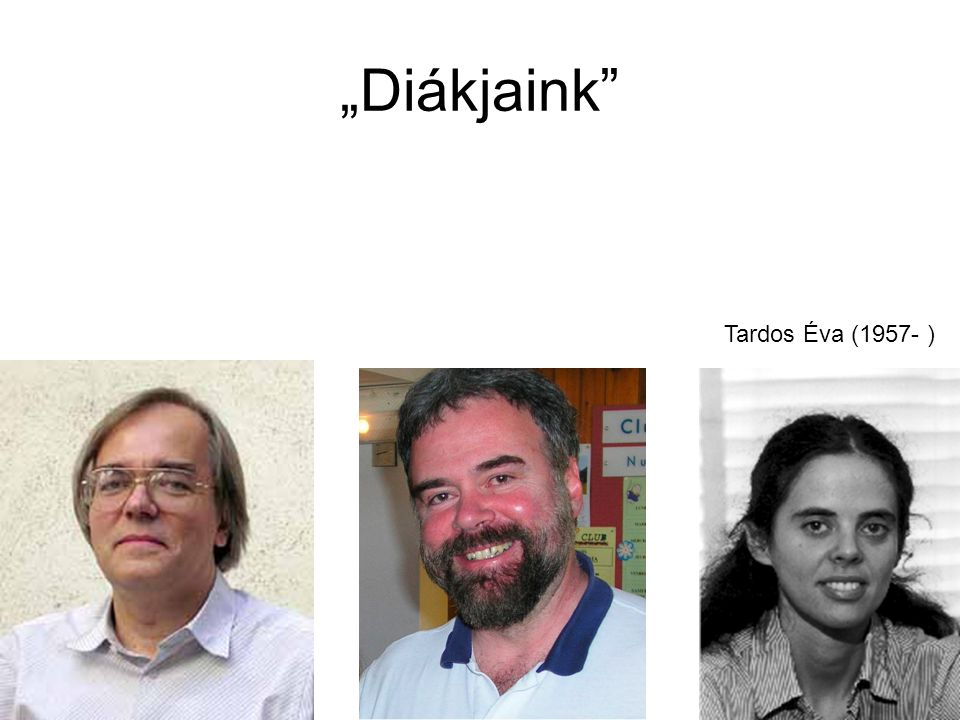 """""""Diákjaink Tardos Éva (1957- )"""