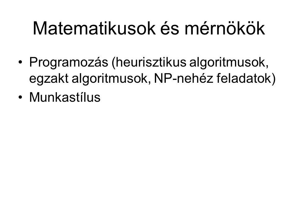 Matematikusok és mérnökök