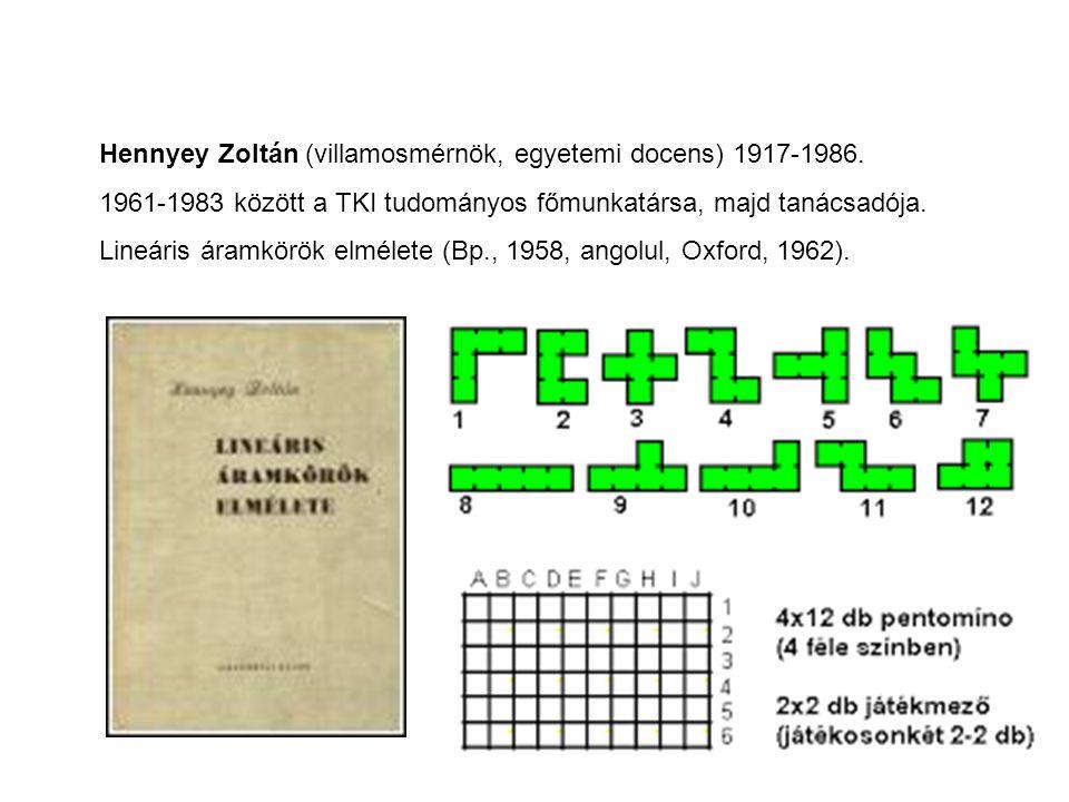 Hennyey Zoltán (villamosmérnök, egyetemi docens) 1917-1986.