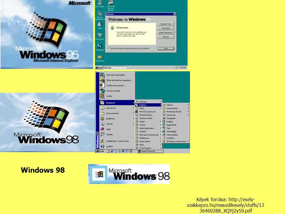 Windows 98 Képek forrása: http://esely-szakkepzo.hu/masodikesely/stuffs/1336460288_XQYj2yS9.pdf