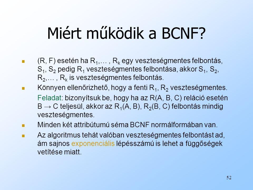 Miért működik a BCNF