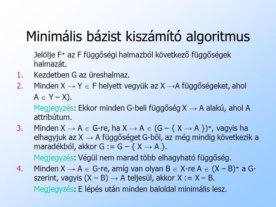 Minimális bázist kiszámító algoritmus