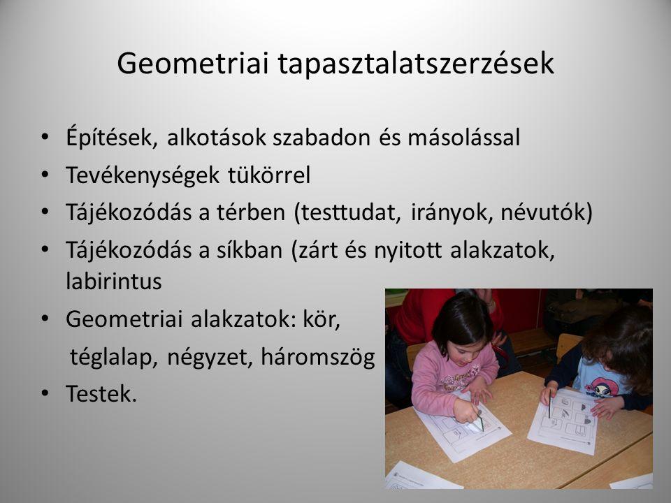 Geometriai tapasztalatszerzések