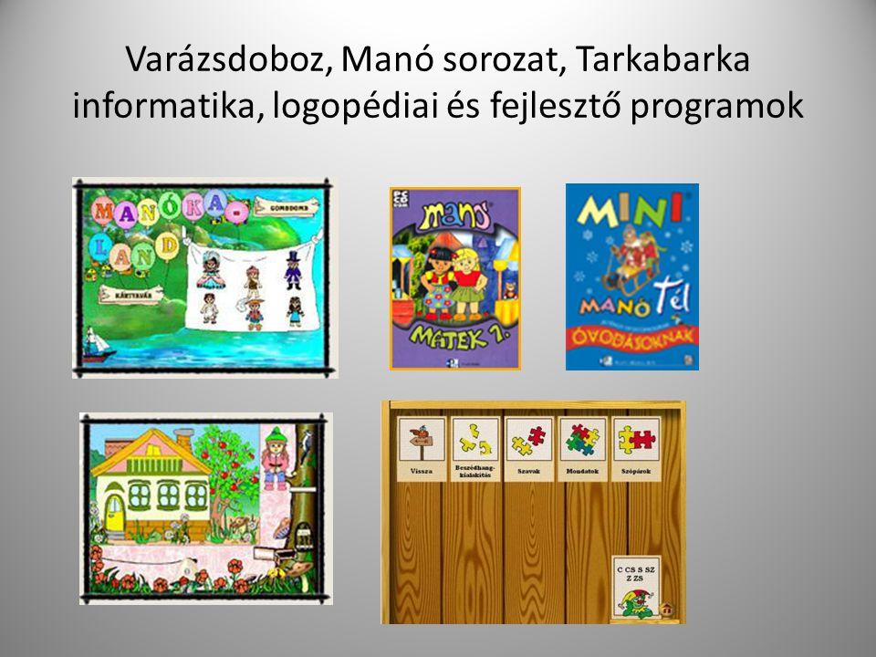 Varázsdoboz, Manó sorozat, Tarkabarka informatika, logopédiai és fejlesztő programok