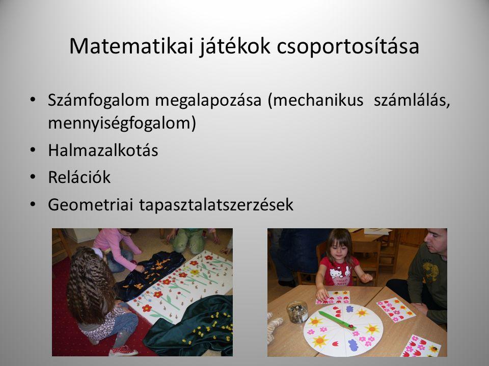 Matematikai játékok csoportosítása
