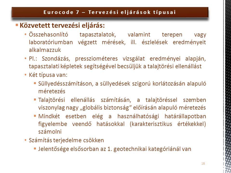 Eurocode 7 – Tervezési eljárások típusai
