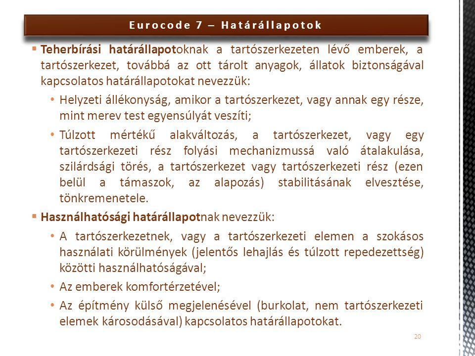 Eurocode 7 – Határállapotok