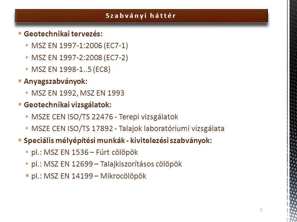 Geotechnikai tervezés: MSZ EN 1997-1:2006 (EC7-1)