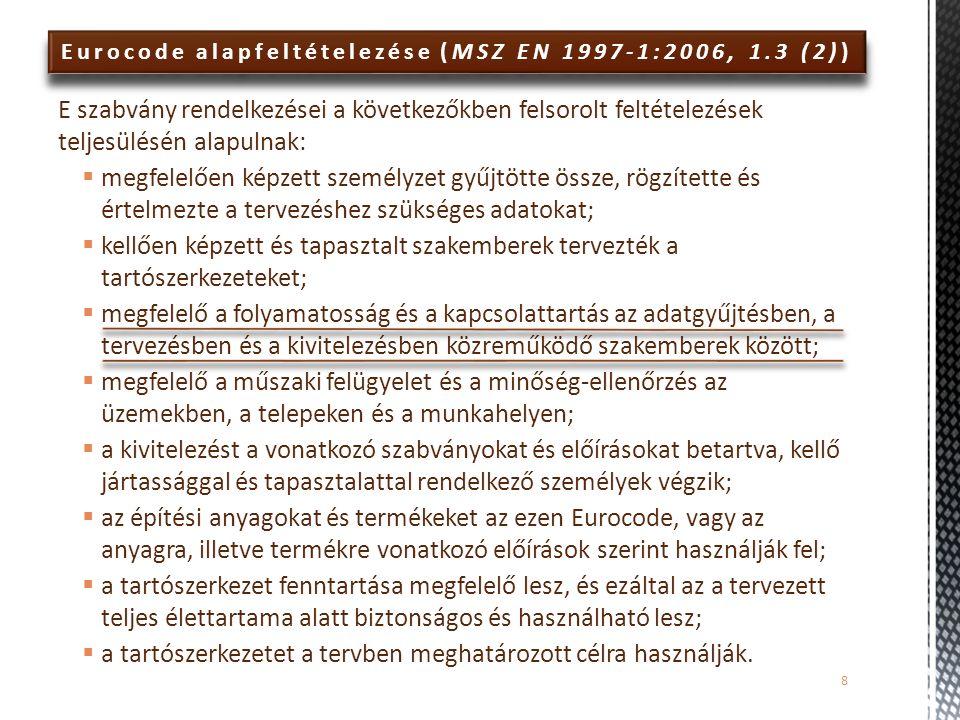 Eurocode alapfeltételezése (MSZ EN 1997-1:2006, 1.3 (2))