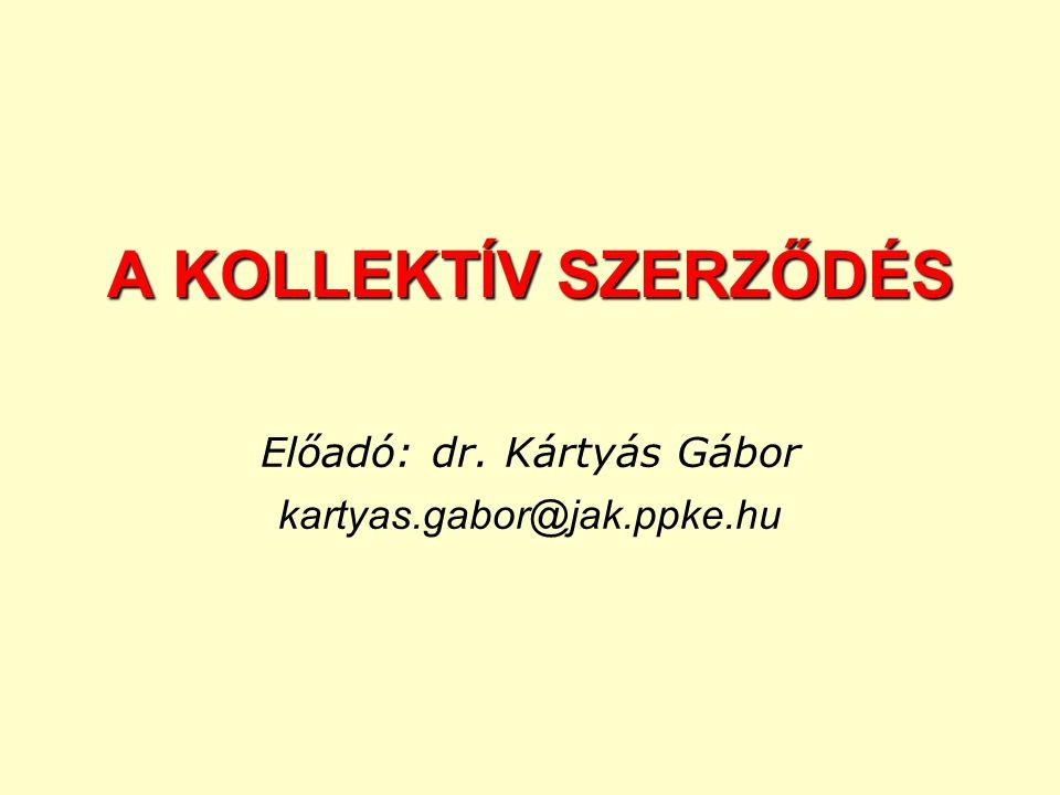 Előadó: dr. Kártyás Gábor