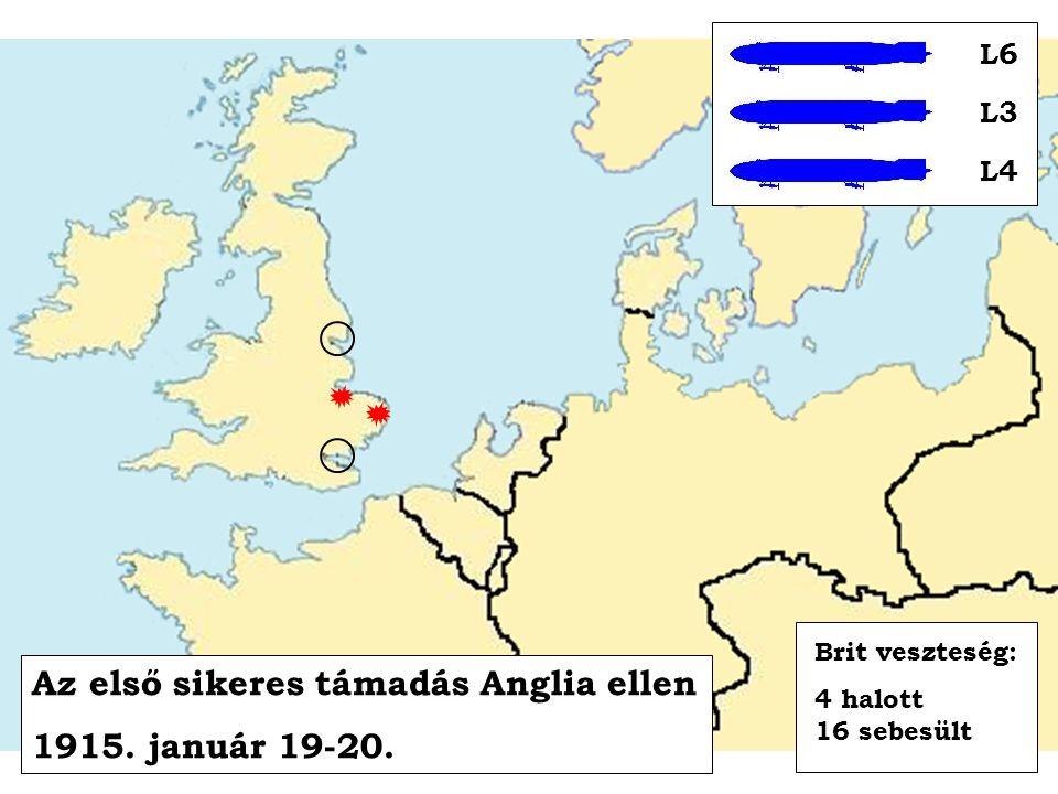 Az első sikeres támadás Anglia ellen 1915. január 19-20.