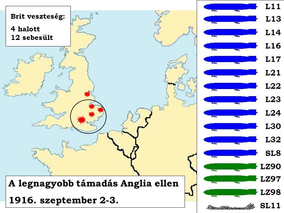 A legnagyobb támadás Anglia ellen 1916. szeptember 2-3.