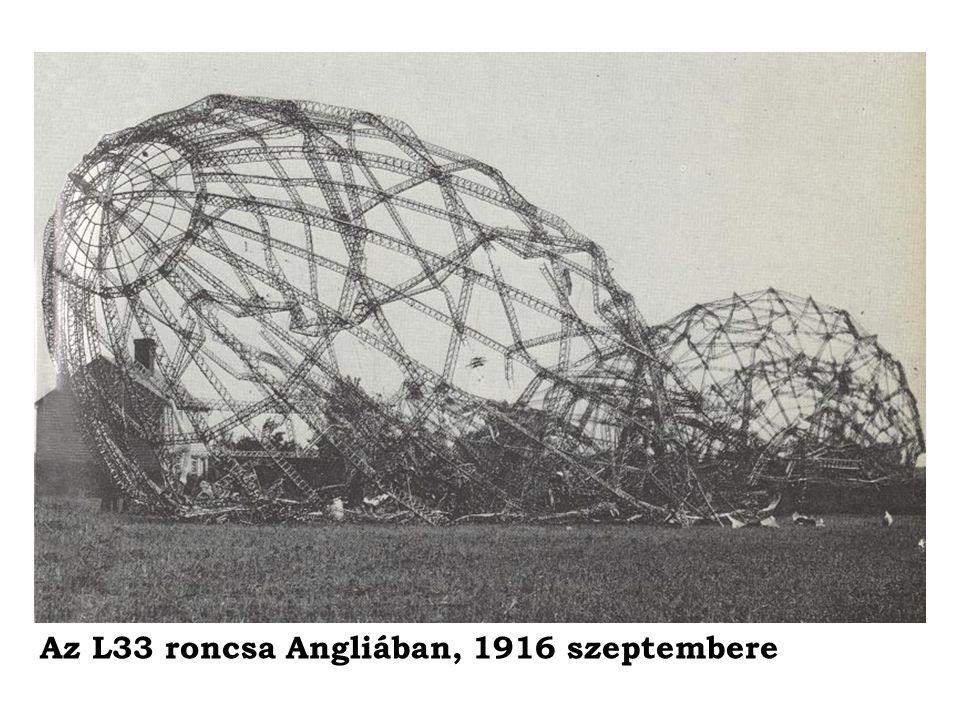 Az L33 roncsa Angliában, 1916 szeptembere