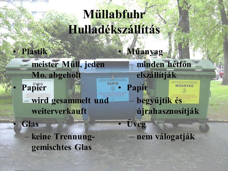 Müllabfuhr Hulladékszállítás
