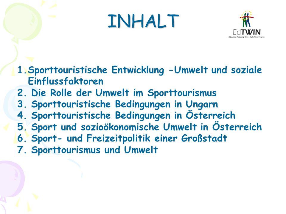 INHALT Sporttouristische Entwicklung -Umwelt und soziale