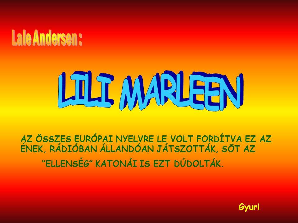 LILI MARLEEN Lale Andersen :