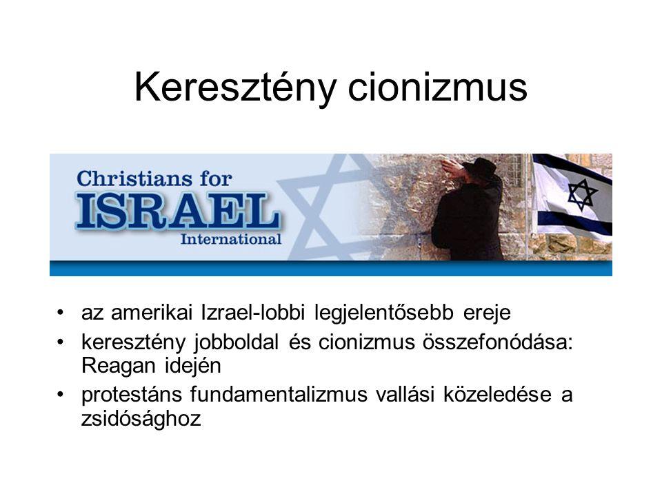 Keresztény cionizmus az amerikai Izrael-lobbi legjelentősebb ereje