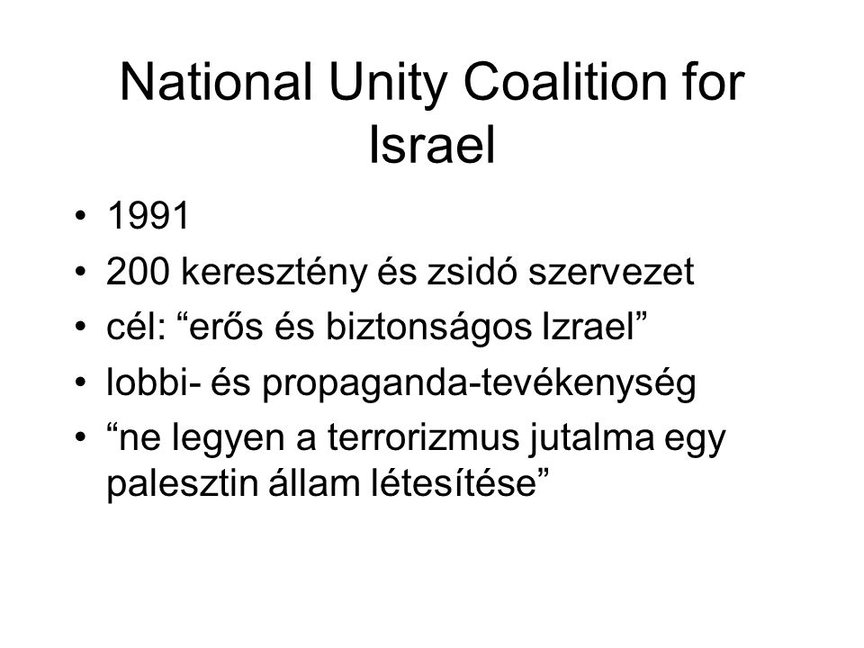 National Unity Coalition for Israel