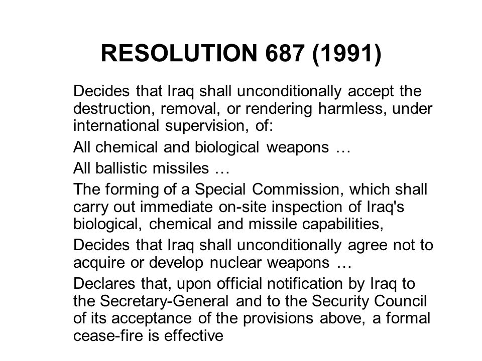 RESOLUTION 687 (1991)