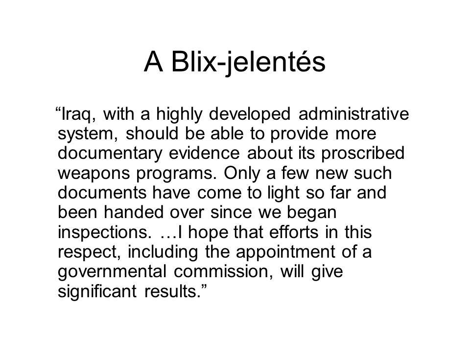 A Blix-jelentés