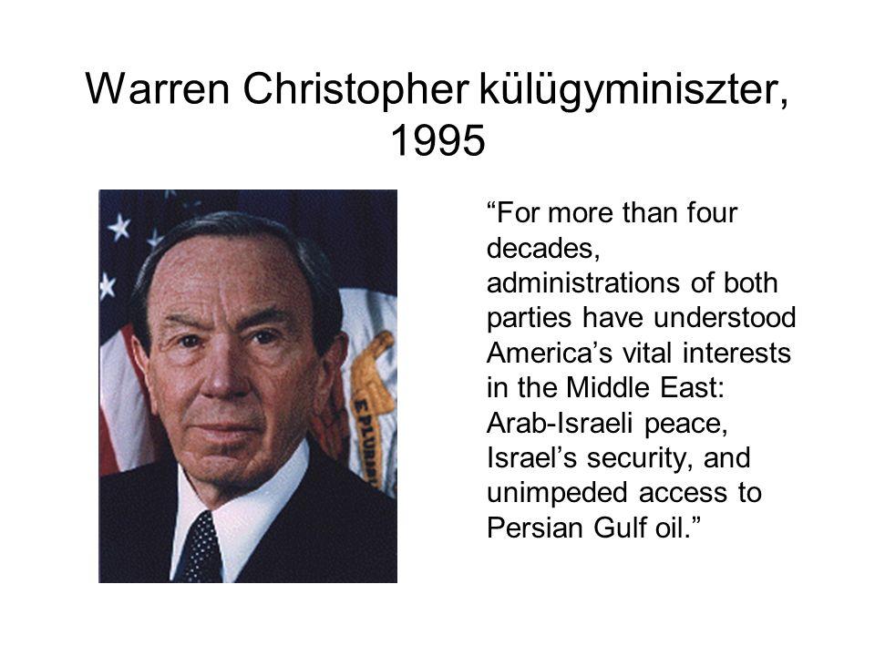 Warren Christopher külügyminiszter, 1995