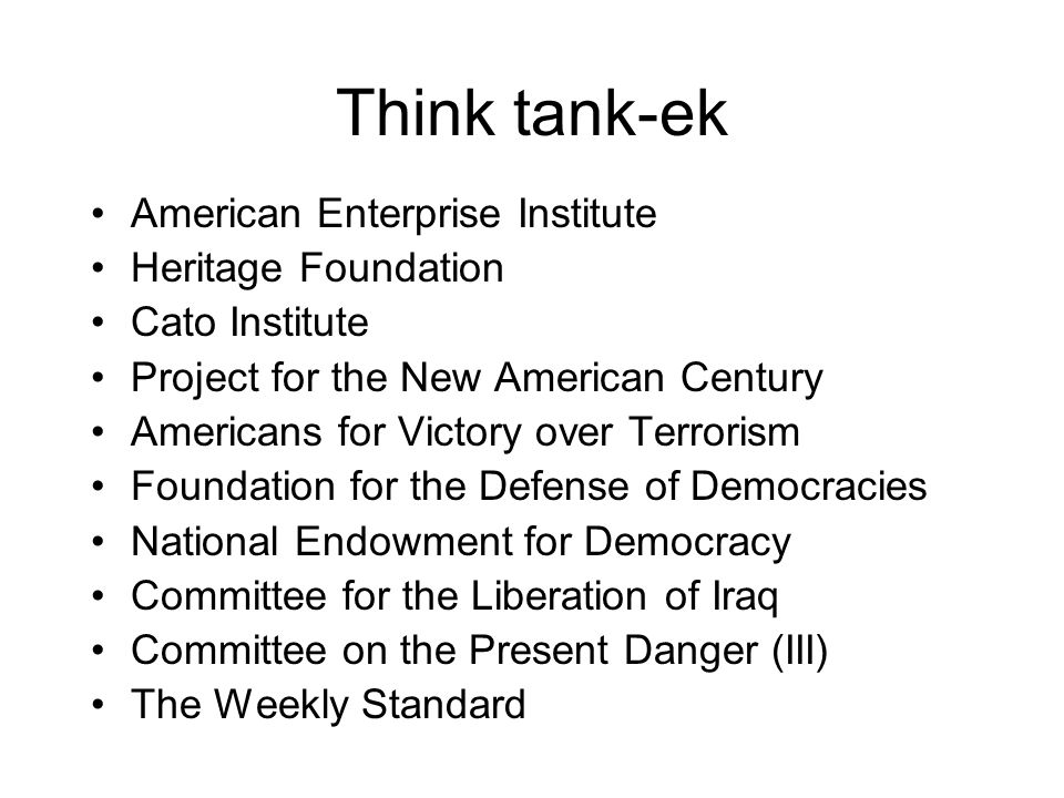 Think tank-ek American Enterprise Institute Heritage Foundation